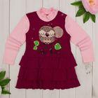 """Платье для девочки """"Платья для малышек"""", рост 98 см (56), цвет бордовый/розовый ДПД183067"""