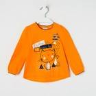 """Джемпер для девочки """"Мурлыка"""", рост 92 см (50), цвет оранжевый, принт кот ДДД041067"""