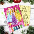 """Фреска-открытка """"Яркого Нового года!"""" Принцессы + 9 цветов песка по 2 гр, блестки 2 гр,стэка 23176"""