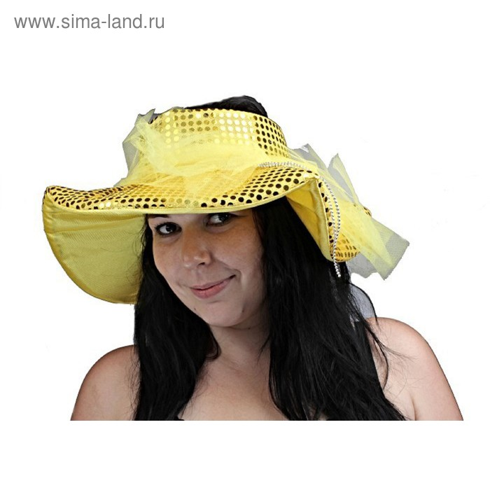 """Карнавальная шляпа """"Мадам"""", блестящая, р-р 56-58, цвета МИКС"""