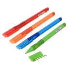 Ручка шариковая 0,7мм стержень синий корпус МИКС с резиновым держателем