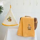 Набор салфеток вафель.в короб. 50*50/50*70 2шт MARISOL, оранжевый хл.100%