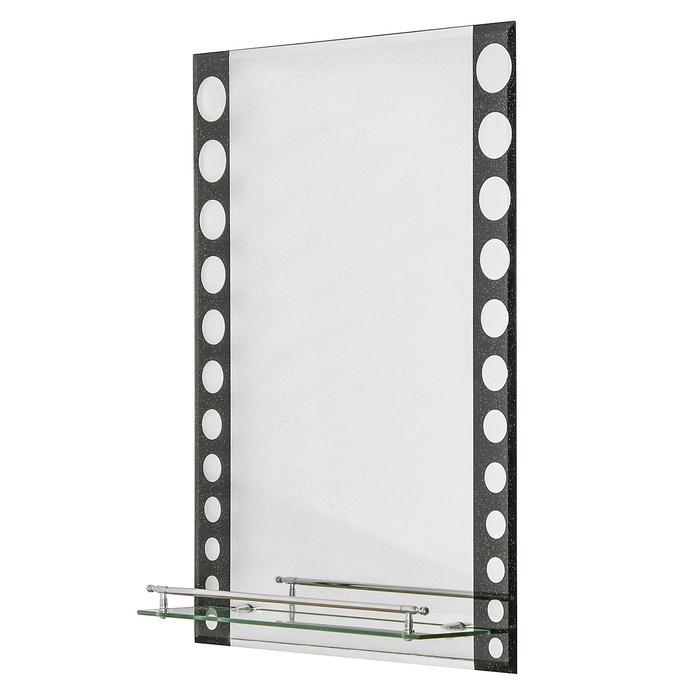 Зеркало в ванную комнату Ассоona A607, 700 х 500 мм, 1 полка