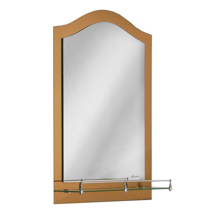 Зеркало в ванную комнату Ассоona A630, 800 х 600 мм, 1 полка, двухслойное