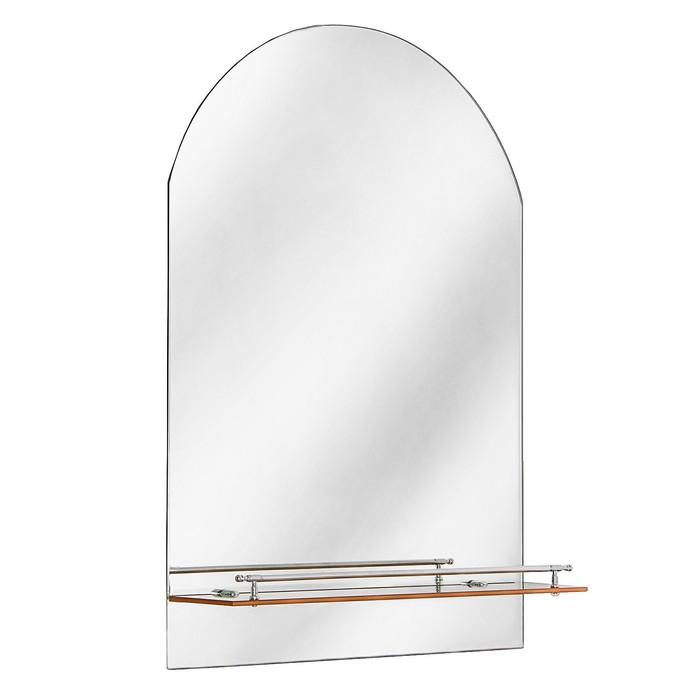 Зеркало в ванную комнату Ассоona A620, 1 полка, с золотой полоской