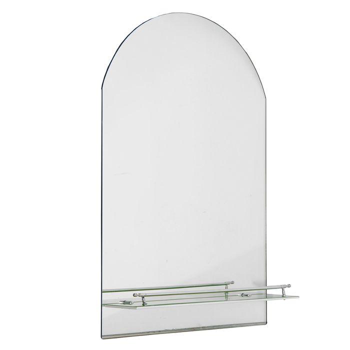 Зеркало в ванную комнату Ассоona A620-1, 1 полка, с салатовой полоской