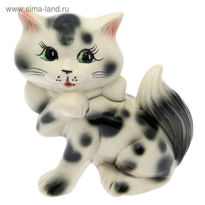 """Копилка """"Кошка Милка"""" глянец, белая, микс"""