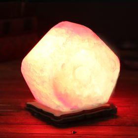 Соляной светильник USB 'Радуга КУБИК', 8 х 8 см, цельный кристалл Ош