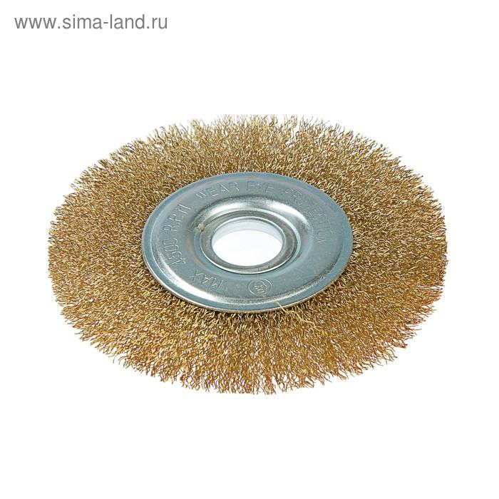 Щетка-крацовка для УШМ Hobbi, дисковая, 125 мм, посадочный диаметр 22,2 мм