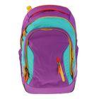 Рюкзак молодежный эргономичная спинка Ergobag 46*31*18 Satch Sleek Flash Runner, бирюзовый/фиолетовый