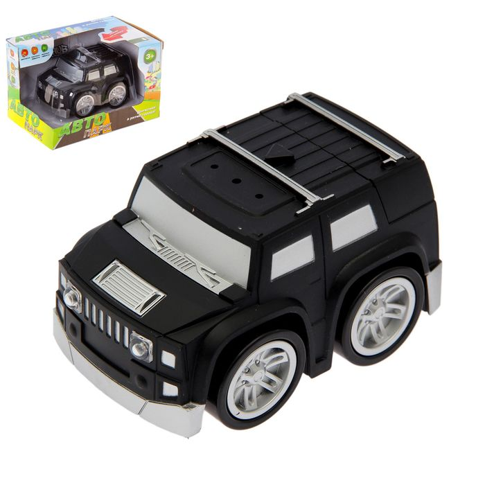 """Машина """"Тачка"""", работает от батареек, световые и звуковые эффекты, МИКС"""