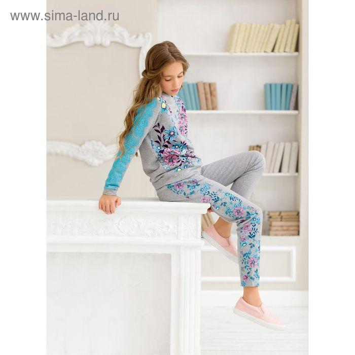 Джемпер для девочки, рост 152 см, цвет серый GFN5030
