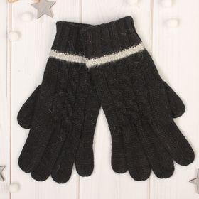 """Перчатки женские """"Далия"""", размер 16, цвет чёрный"""