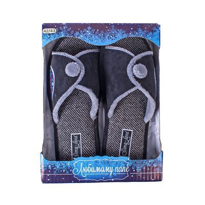 """Обувь домашняя мужская """"Любимому папе"""", размер 42/43"""