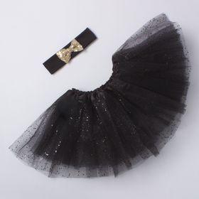Набор Крошка Я 'Маленькая принцесса' юбка и повязка на голову 3-5 лет, черн+золото Ош