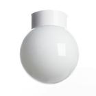 "Светильник настенно-потолочный ""Шар"" прямой 1 лампа Е27 60W опал,белый 15х15х18,6"