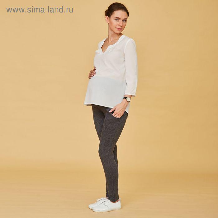 Легинсы тёплые для беременных (высокие), размер 44-46 (L), цвет серый