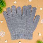 Перчатки женские с люрексом, размер 18, цвет серый