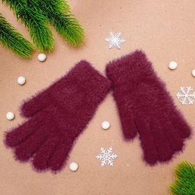 """Перчатки женские """"Самира"""", размер 16, цвет бордовый"""