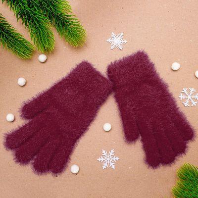 """Перчатки женские """"Самира"""", размер 16 (р-р произв. 20*8 см), цвет бордовый"""