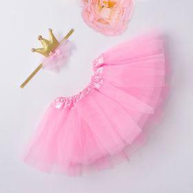 Набор Крошка Я 'Маленькая принцесса' юбка и повязка на голову 3-18 мес, розовый Ош