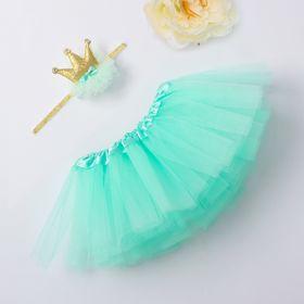 Набор Крошка Я 'Маленькая принцесса' юбка и повязка на голову 3-18 мес, мятный Ош