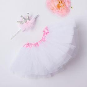 Набор Крошка Я 'Маленькая принцесса' юбка и повязка на голову, 3-18 мес, цвет белый Ош