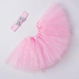 Набор Крошка Я 'Маленькая принцесса' юбка и повязка на голову 3-5 лет, розов+серебро Ош