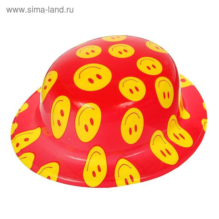 "Шляпа овальная ""Смайл"", цвета МИКС"