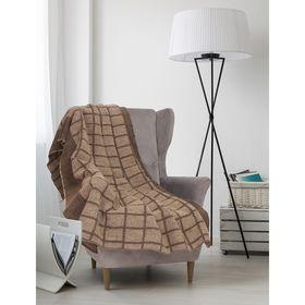 Одеяло арт.ОШ54 клетка суровое 140х205, 400г/м,шерсть 70%,п/э 30%