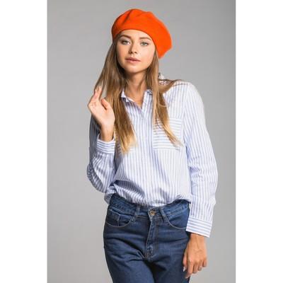 """Берет шерстяной женский """"Ромилда"""", размер 54-56, цвет оранжевый"""