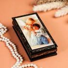 Шкатулка - купюрница «Ангелочки», 8,5×17 см, лаковая миниатюра