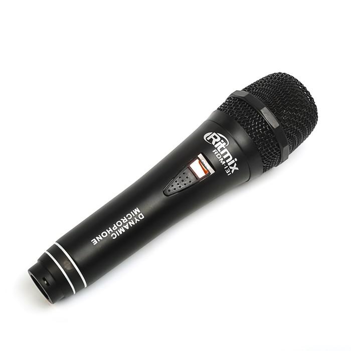 Микрофон RITMIX RDM-131 black, 80-15000 Гц, штекер 6.3 мм