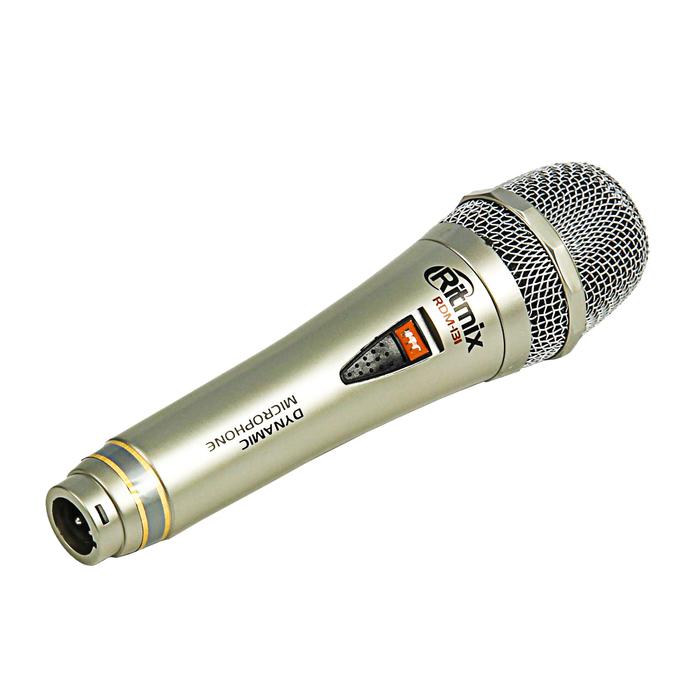 Микрофон RITMIX RDM-131 silver, 80-15000 Гц, штекер 6.3 мм
