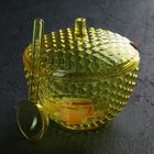 """Ёмкость для меда 650 мл """"Мозаика. Люкс"""" с ложкой, цвет желтый"""