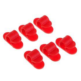 Набор кабельных зажимов, 6 шт, цвет красный Ош