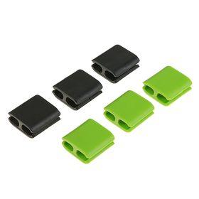 Набор кабельных зажимов (6 шт), цвет МИКС Ош