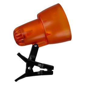 Светильник настольный на прищепке KT034A 1 лампа Е14 40Вт прозр.оранж. Ош