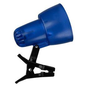 Светильник настольный на прищепке KT034A 1 лампа Е14 40Вт прозр.синий Ош