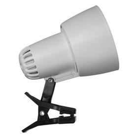 Светильник настольный на прищепке KT034В 1 лампа Е27 60Вт белый