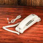 Проводной телефон RITMIX RT-007, настольно-настенный, стильный дизайн, белый