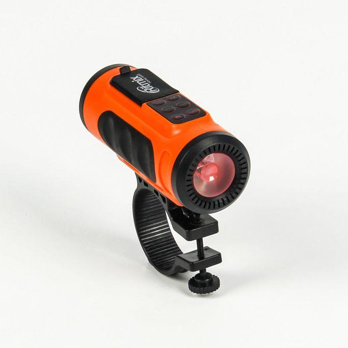 Портативная колонка RITMIX SP-520BC фонарик, крепление, оранжевый