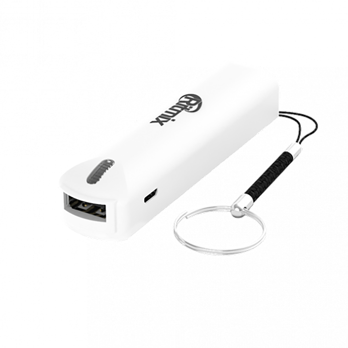 Внешний аккумулятор Ritmix RPB-2001L, 2000 mAh, карманный, USB 1A, белый