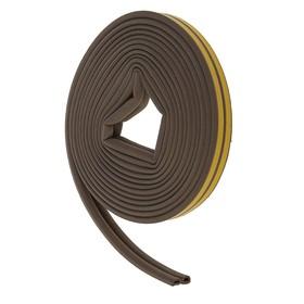Уплотнитель резиновый самоклеящийся UNIBOB, профиль D, в катушке 10 м, коричневый Ош