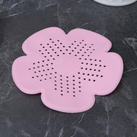 Фильтр для слива 'Цветок' 15,5х15,5 см, цвет МИКС Ош