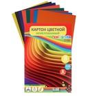 """Картон цветной А4, 8 листов, 8 цветов """"Графика"""", немелованный, в т/у пленке, плотность 220 г/м2"""