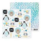 """Бумага для скрапбукинга """"Пингвинчик"""", 15.5х15.5 см"""