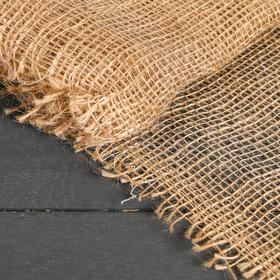 Материал укрывной джутовый, 0.95 х 8 м, плотность 190 г/м2, плетение 34/24