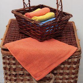 Салфетка 'ВыгоДА', размер 24х24 см, цвет тёмно-оранжевый Ош