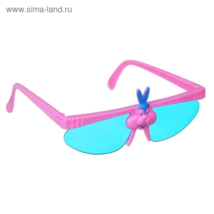 Карнавальные очки детские на веревочке со зверушками, цвета МИКС